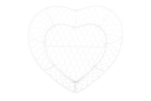 CORIGO, https://konsimo.pl/kolekcja/corigo/ Koszyk serce biały - zdjęcie
