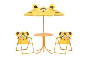 AKEBI, https://konsimo.pl/kolekcja/akebi/ Zestaw mebli ogrodowych żółty - zdjęcie