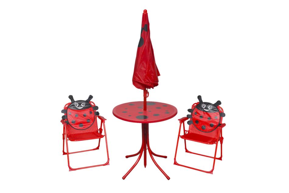 AKEBI Zestaw mebli ogrodowych czerwony - zdjęcie 1