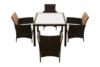 PETROS Zestaw mebli ogrodowych brązowy/kremowy - zdjęcie 2