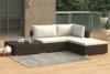 HIRUM Zestaw mebli ogrodowych brązowy/kremowy - zdjęcie 2