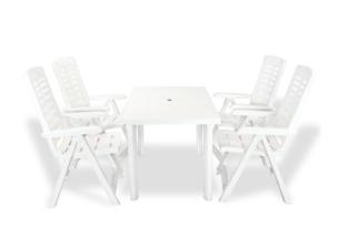 CYMINO, https://konsimo.pl/kolekcja/cymino/ Zestaw mebli ogrodowych biały - zdjęcie