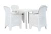 LIDUS Zestaw mebli ogrodowych biały/szary - zdjęcie 1