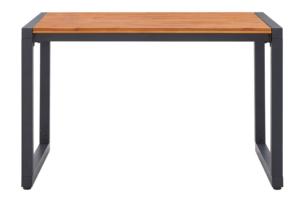 CAPREO, https://konsimo.pl/kolekcja/capreo/ Stół ogrodowy antracytowy/brązowy - zdjęcie