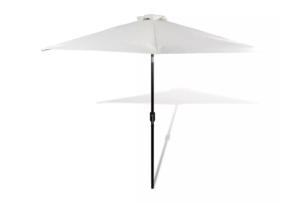 PERPUS, https://konsimo.pl/kolekcja/perpus/ Parasol ogrodowy biały - zdjęcie