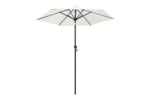 KYANO, https://konsimo.pl/kolekcja/kyano/ Parasol ogrodowy biały/ciemny szary - zdjęcie