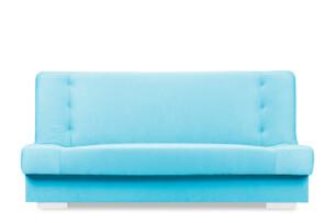 LAVEROS, https://konsimo.pl/kolekcja/laveros/ Kolorowa wersalka z funkcją spania i pojemnikiem na pościel turkus niebieski - zdjęcie