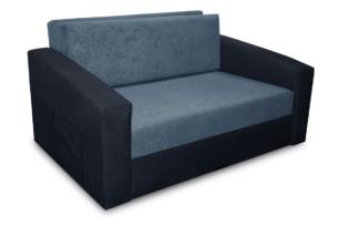 TULIOS, https://konsimo.pl/kolekcja/tulios/ Mała sofa 2 osobowa młodzieżowa rozkładana do przodu niebieski/granatowy jasny niebieski/granatowy - zdjęcie
