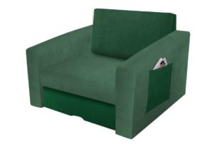 TULIOS, https://konsimo.pl/kolekcja/tulios/ Fotel młodzieżowy rozkładany do przodu zielony jasny zielony/ciemny zielony - zdjęcie