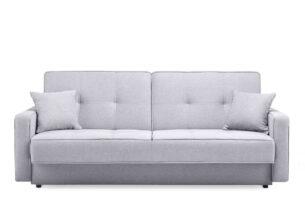 ORIO, https://konsimo.pl/kolekcja/orio/ Szara rozkładana kanapa do salonu welur szary - zdjęcie