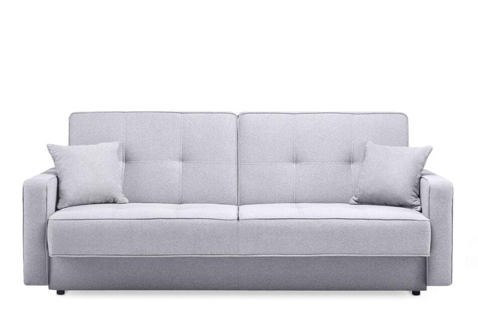 ORIO Szara rozkładana kanapa do salonu welur szary - zdjęcie 0