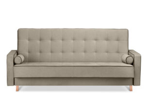 DOZER, https://konsimo.pl/kolekcja/dozer/ Beżowa sofa 3 osobowa z funkcją spania beżowy/brązowy - zdjęcie