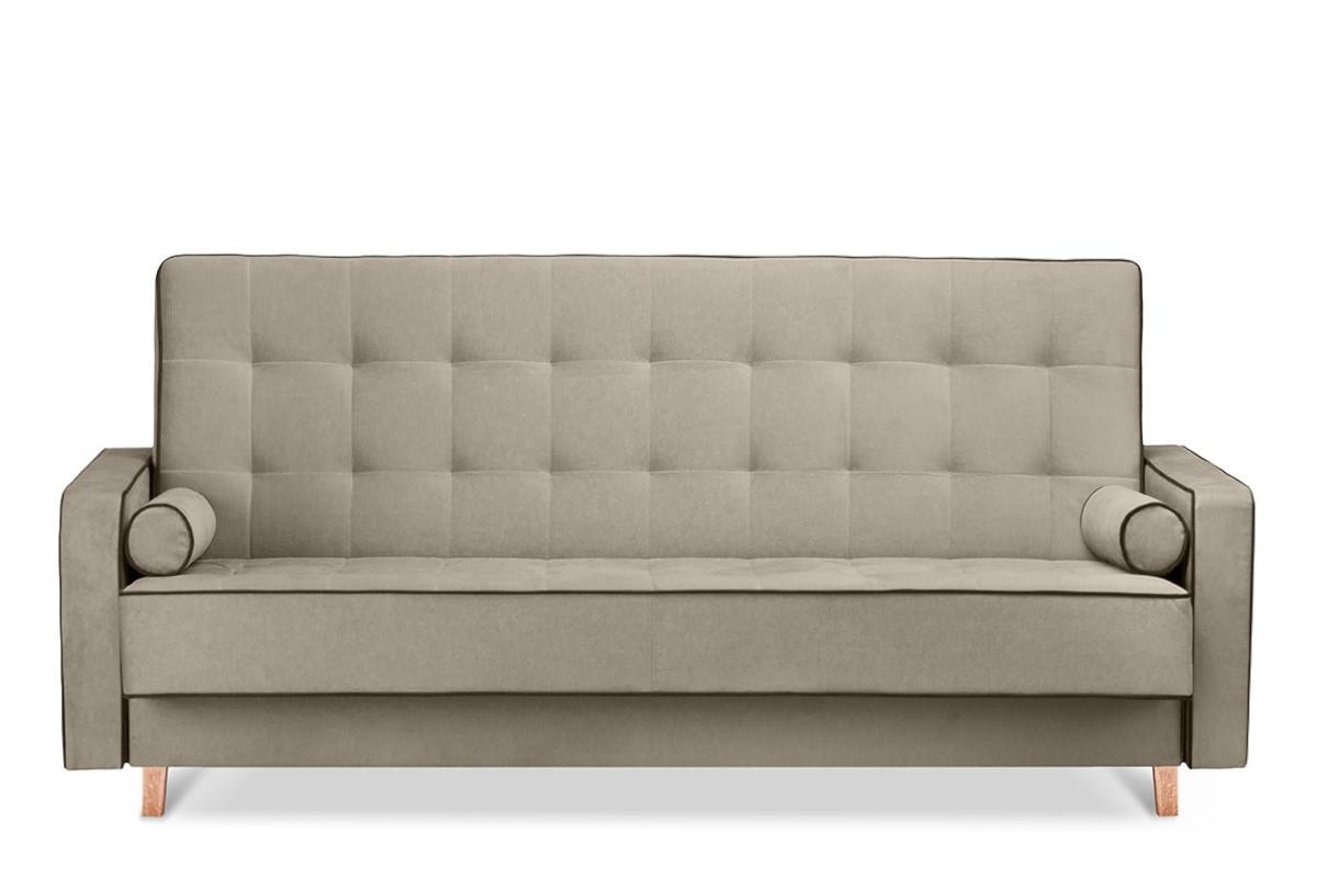 Beżowa sofa 3 osobowa z funkcją spania