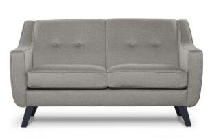 TERSO, https://konsimo.pl/kolekcja/terso/ Skandynawska sofa 2 osobowa tkanina plecionka beżowa beżowy - zdjęcie