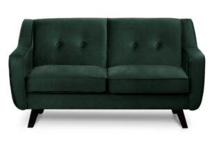 TERSO, https://konsimo.pl/kolekcja/terso/ Skandynawska sofa 2 osobowa welur butelkowa zieleń ciemny zielony - zdjęcie