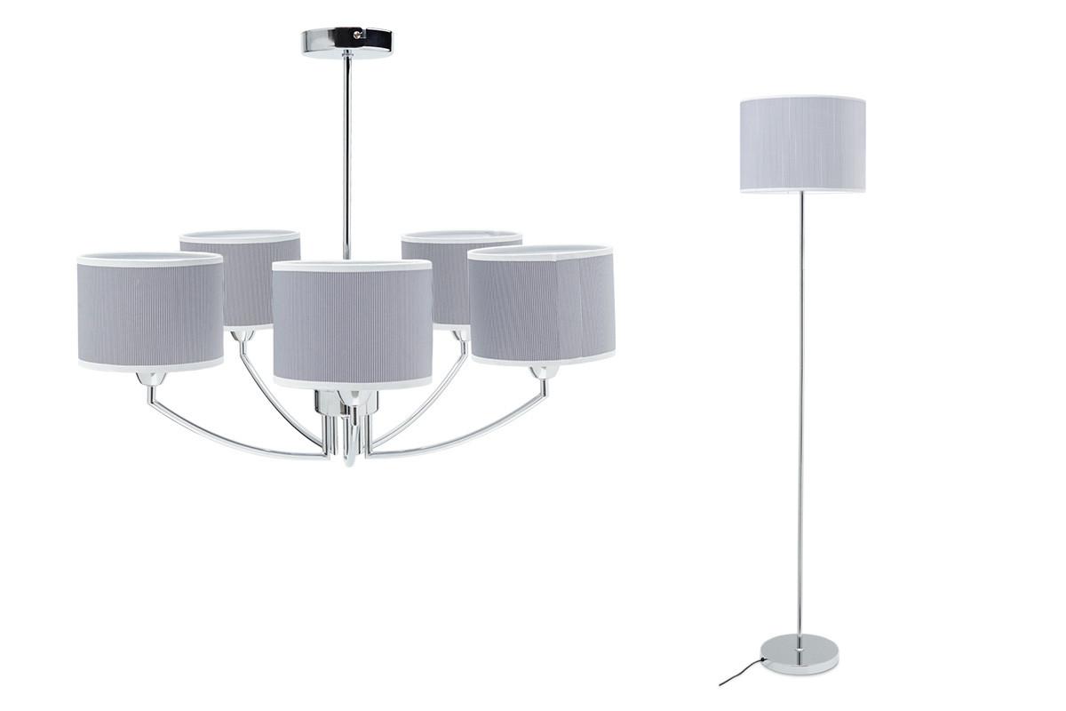 Lampa wisząca + lampa podłogowa