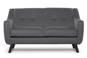 TERSO, https://konsimo.pl/kolekcja/terso/ Skandynawska sofa 2 osobowa tkanina plecionka szara ciemny szary - zdjęcie