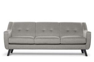 TERSO, https://konsimo.pl/kolekcja/terso/ Skandynawska sofa 3 osobowa tkanina plecionka beżowa beżowy - zdjęcie