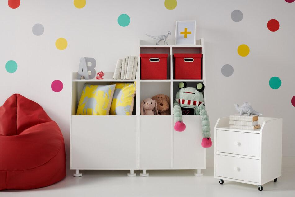 SCRIBI Szafka na kółkach pod biurko dla dzieci biała biały - zdjęcie 1