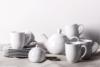 MUSCARI Serwis herbaciany porcelana dla 6 osób biała biały - zdjęcie 1
