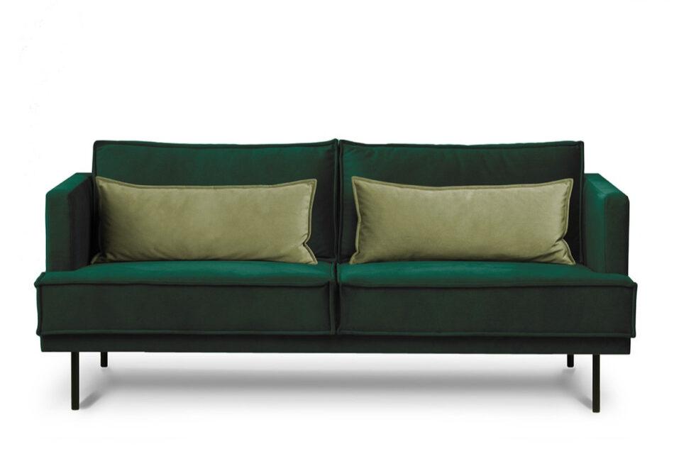 GANZO Sofa 3 osobowa do salonu z poduszkami butelkowa zieleń ciemny zielony/jasny zielony - zdjęcie 0
