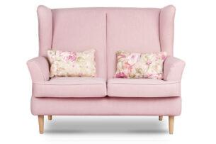 STRALIS, https://konsimo.pl/kolekcja/stralis/ Skandynawska sofa dwuosobowa pudrowy róż na nóżkach różowy - zdjęcie