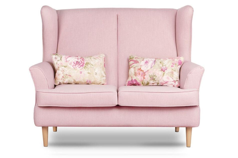 STRALIS Skandynawska sofa dwuosobowa pudrowy róż na nóżkach różowy - zdjęcie 0