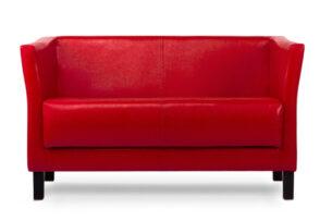 ESPECTO, https://konsimo.pl/kolekcja/especto/ Sofa do poczekalni ekoskóra czerwona czerwony - zdjęcie
