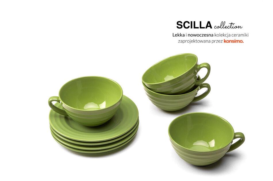 SCILLA Zestaw herbaciany dla 4 osób zielony zielony - zdjęcie 1