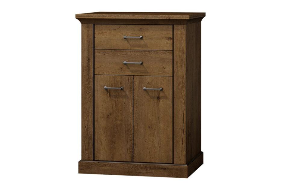 VETIS Komoda z szufladami i półkami 80 cm w stylu klasycznym jesion jesion jasny - zdjęcie 0