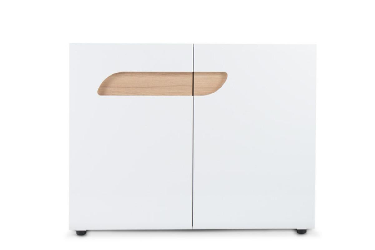 Komoda z półkami 110 cm w stylu skandynawskim biała