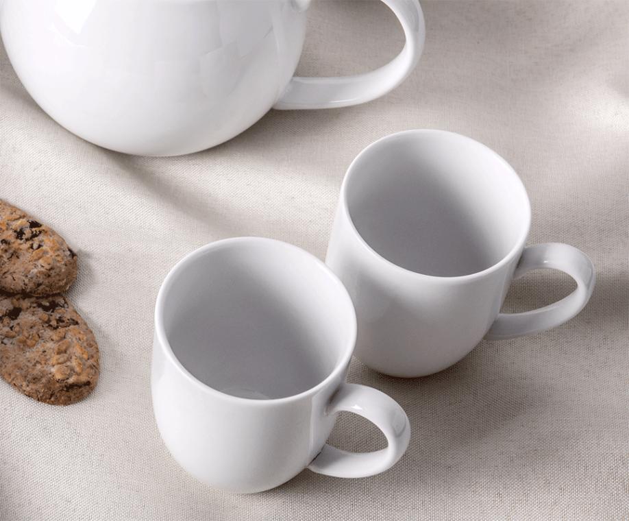 MUSCARI Serwis herbaciany porcelana dla 6 osób biała biały - zdjęcie 2