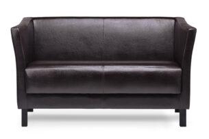 ESPECTO, https://konsimo.pl/kolekcja/especto/ Sofa do poczekalni ekoskóra brązowa ciemny brąz - zdjęcie