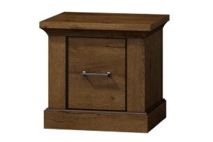VETIS, https://konsimo.pl/kolekcja/vetis/ Szafka nocna z szufladą w klasycznym stylu jesion jesion jasny - zdjęcie