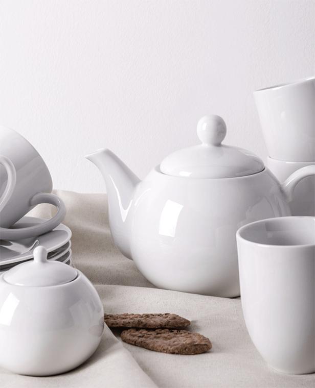 MUSCARI Serwis herbaciany porcelana dla 6 osób biała biały - zdjęcie 9