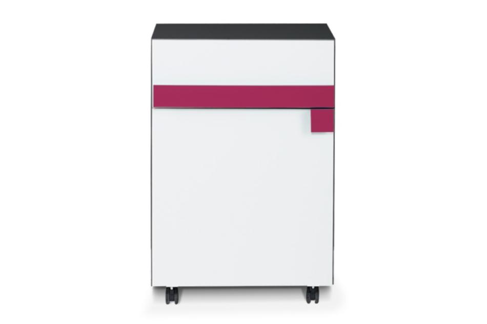 SHIBU Szafka kontenerek dla dziecka grafit/biały/różowy - zdjęcie 0