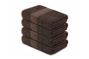 LENTE, https://konsimo.pl/kolekcja/lente/ Komplet ręczników dużych 4 szt. brązowy - zdjęcie