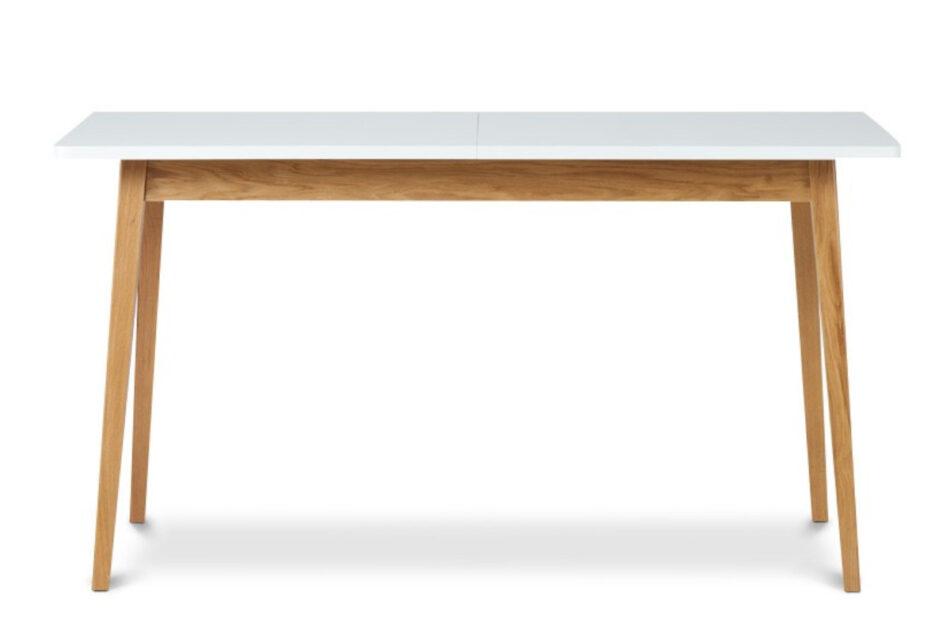 FRISK Biały rozkładany stół w stylu skandynawskim biały/dąb naturalny - zdjęcie 0