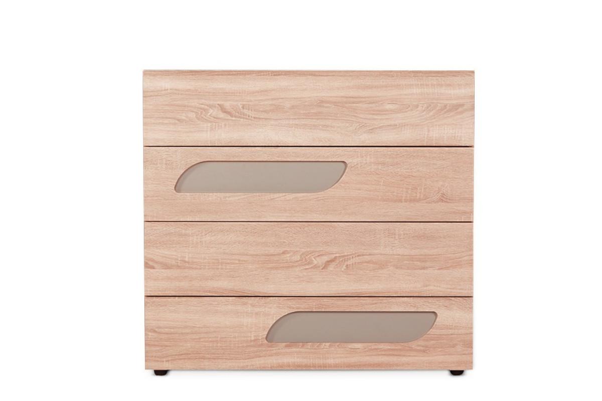 Komoda z szufladami 110 cm w stylu skandynawskim dąb