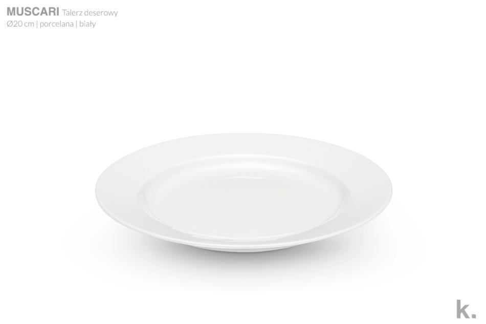 MUSCARI Serwis herbaciany porcelana dla 6 osób biała biały - zdjęcie 4