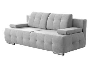 ENOS, https://konsimo.pl/kolekcja/enos/ Rozkładana kanapa pikowana jasnoszara jasny szary - zdjęcie