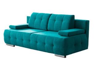 ENOS, https://konsimo.pl/kolekcja/enos/ Rozkładana kanapa pikowana turkusowa turkusowy - zdjęcie