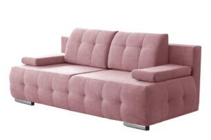 ENOS, https://konsimo.pl/kolekcja/enos/ Rozkładana kanapa pikowana różowa różowy - zdjęcie