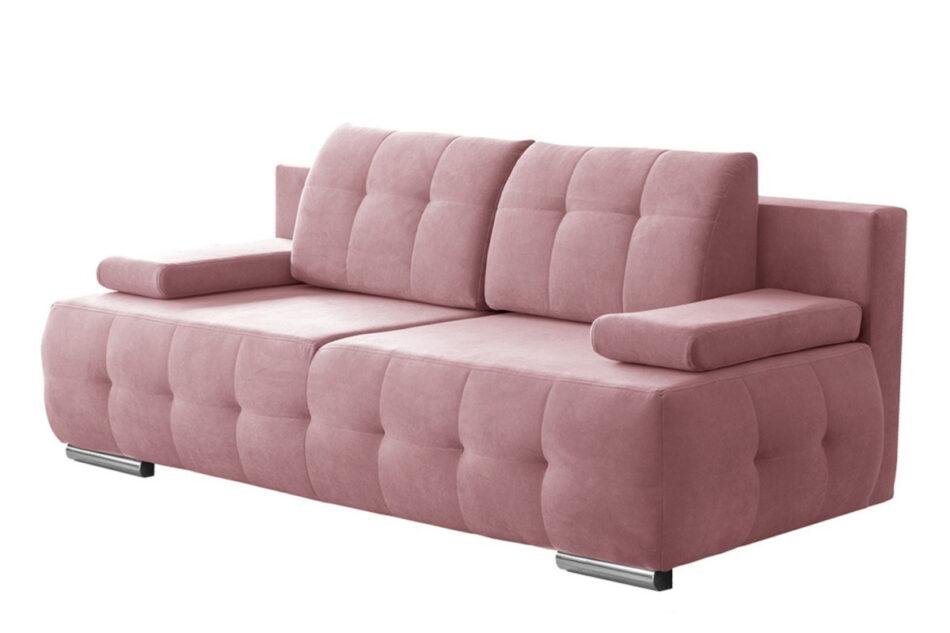 ENOS Rozkładana kanapa pikowana różowa różowy - zdjęcie 0