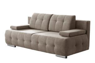 ENOS, https://konsimo.pl/kolekcja/enos/ Rozkładana kanapa pikowana beżowa beżowy - zdjęcie