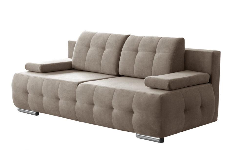 ENOS Rozkładana kanapa pikowana beżowa beżowy - zdjęcie 0