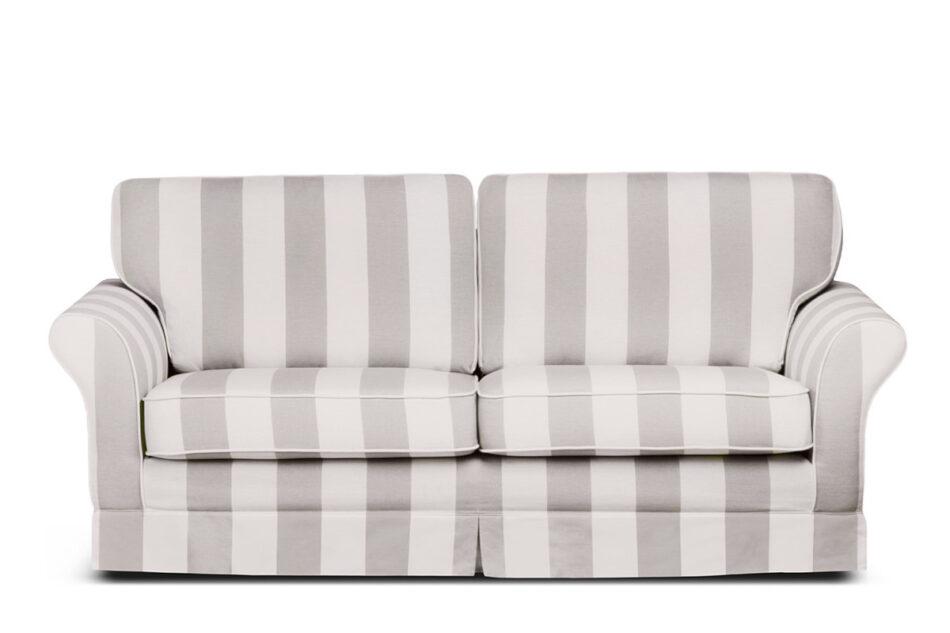 CARLA Klasyczna sofa w paski biało-beżowa beżowy/biały - zdjęcie 0