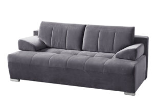 TANTO, https://konsimo.pl/kolekcja/tanto/ Nowoczesna pikowana sofa rozkładana szara szary - zdjęcie