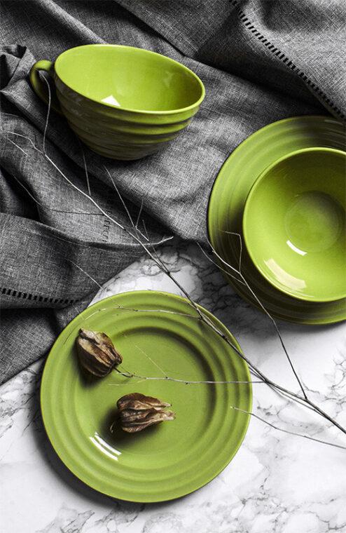 SCILLA Zestaw herbaciany dla 4 osób zielony zielony - zdjęcie 7