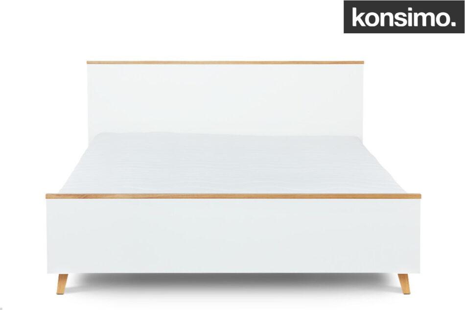 FRISK Łóżko skandynawskie 140×200 biały/dąb naturalny - zdjęcie 8
